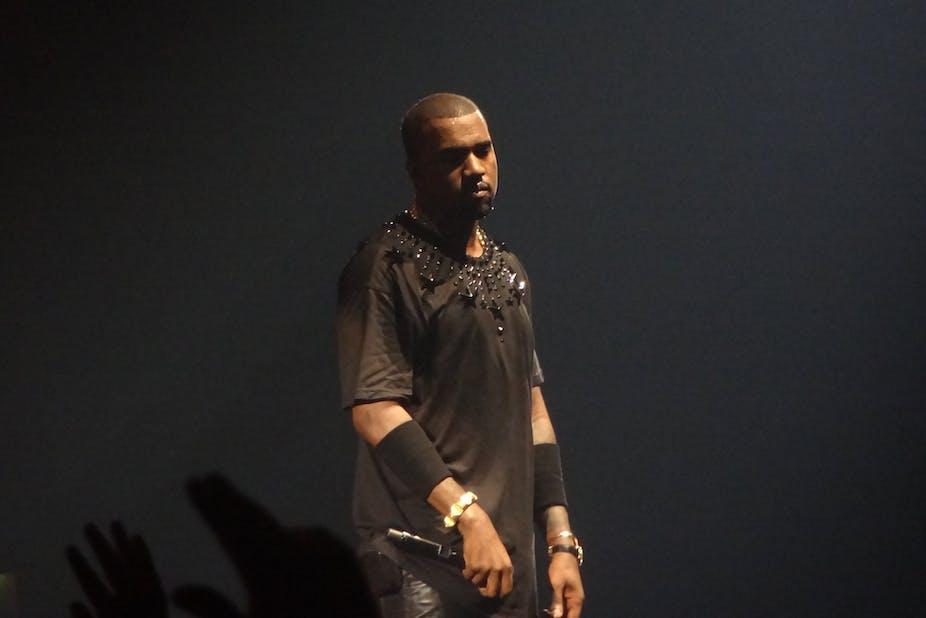 Kanye West sur scène, 2012