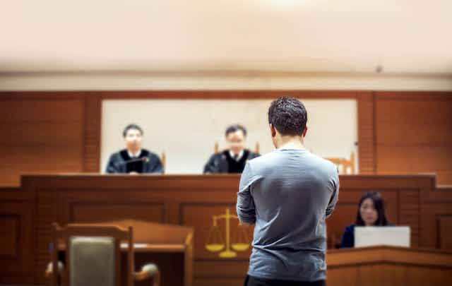 A person at court