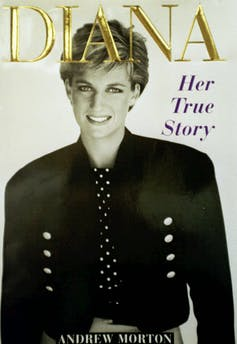 Cover of 1992 book, Diana: Her True Story, with portrait of Diana