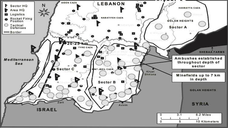Liban. Système de défense stratégique du Hezbollah, en juillet 2006. Matt M. Matthews US army/Wikimedia, CC BY