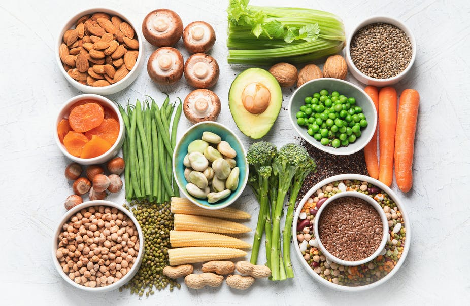 Plant-based protein sources.