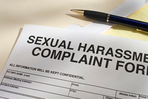 A blank sexual harassment complaint form