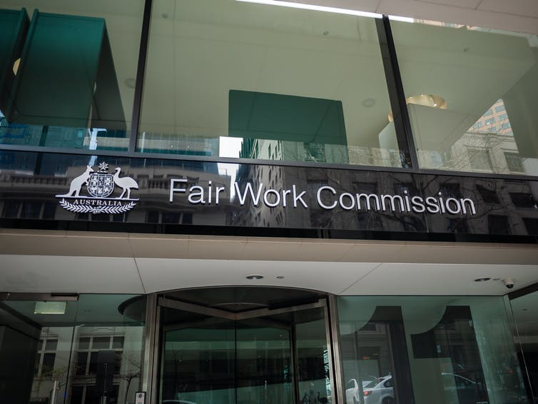 Front of Fair Work Commission building