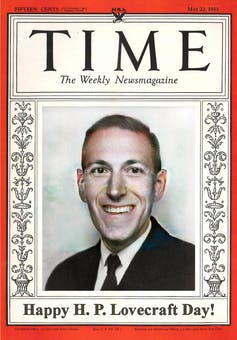 HP Lovecraft on the cover of Time Magazine.