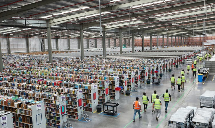 Amazon's fulfillment centre in Dandenong, south-east Melbourne, Victoria.