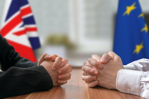 UK and EU negotiators at the table.