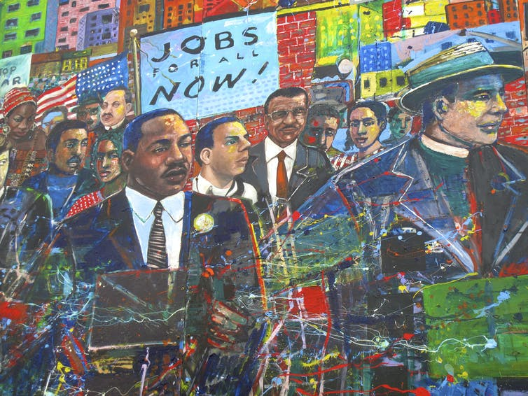 Martin Luther King, Jr. Memorial Mural.