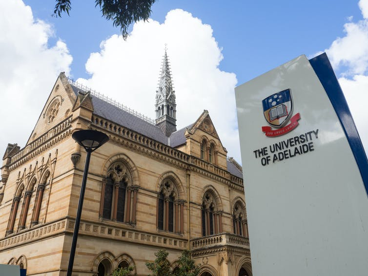 University of Adelaide entrance on North Terrace, Adelaide