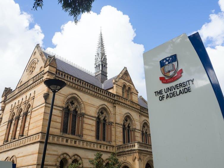 University of Adelaide entrance on North Terrace, Adelaide