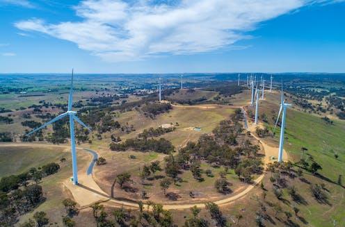 A wind farm in NSW