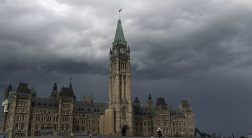 Storm clouds over Parliament
