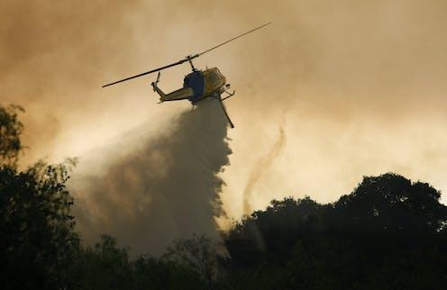 A fire tornado formed in a wildfire in 2013.