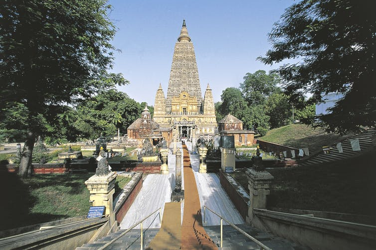 The Mahabodhi temple in India