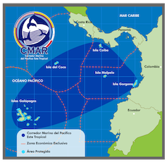 Map showing the protected CMAR zones in the Pacific.