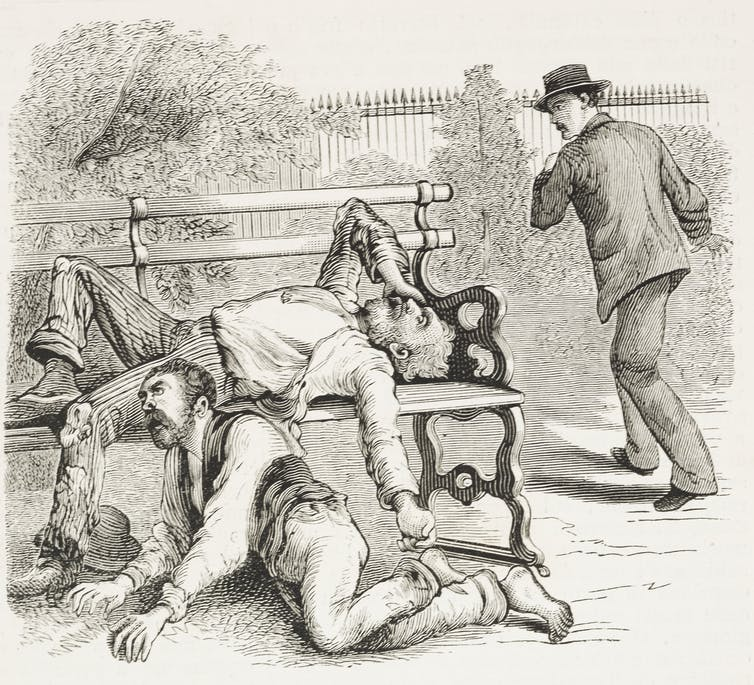 On the streets of New Orleans, the dying victims of the 1878 yellow fever epidemic.