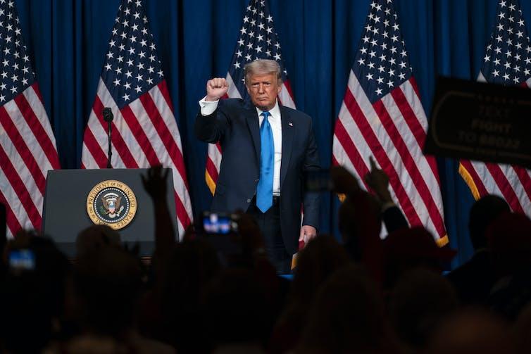 Donald Trump at the Republican convention.