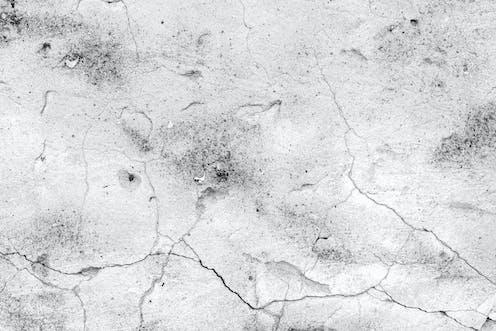 Cracks on a concrete wall