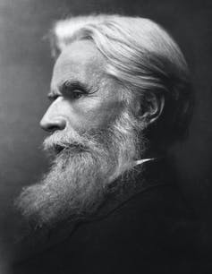 A profile portrait of Havelock Ellis, an elderly white man with a long white beard.