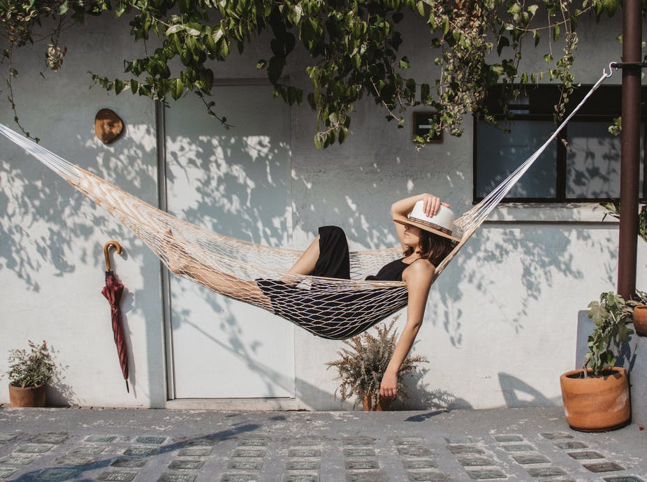 Is stretching out on a hammock better for you than sitting?