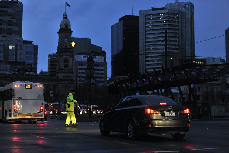 Adelaide during blackout in 2016.