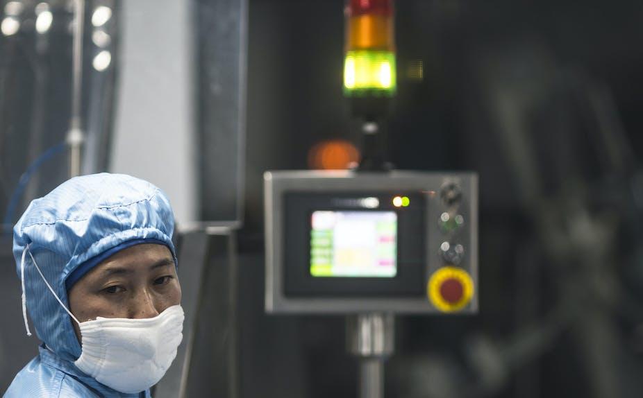 Scientist working at Sinopharm.