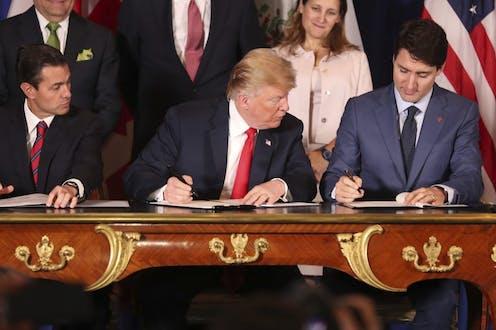 Signature de l'Accord Canada Etats-Unis Mexique à Buenos Aires en Argentine en marge du G20