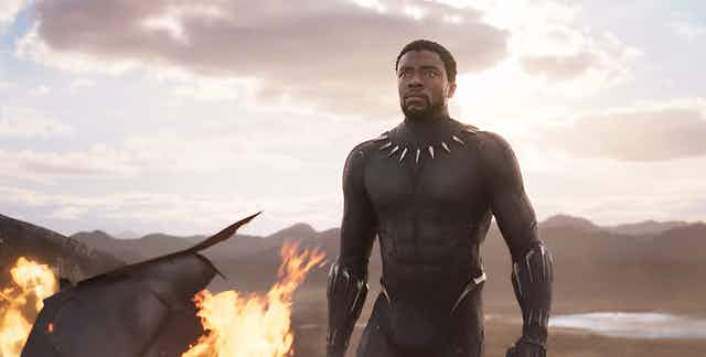 Black actor in body armour