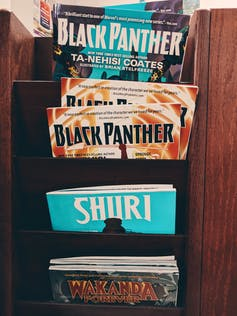 Black Panther Marvel Comic books.