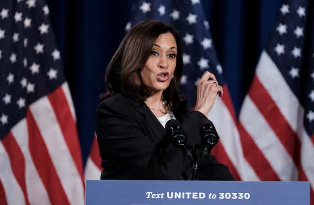 Kamala Harris, the Democratic Vice Presidential nominee.
