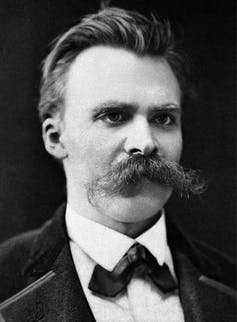 Nietzsche with a very impressive moustache.