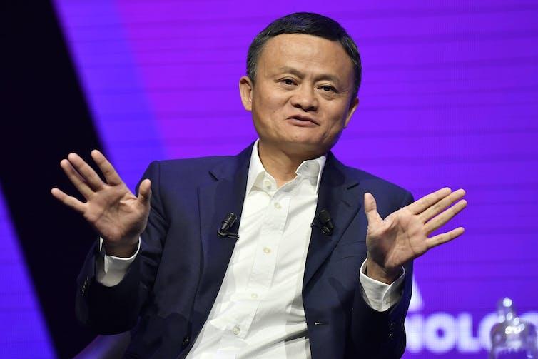 Jack Ma on a panel