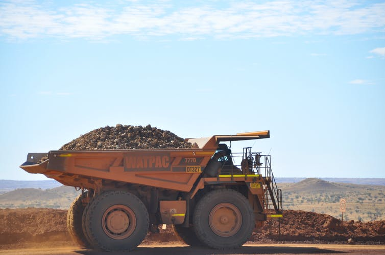 Dumper truck in the Pilbara.