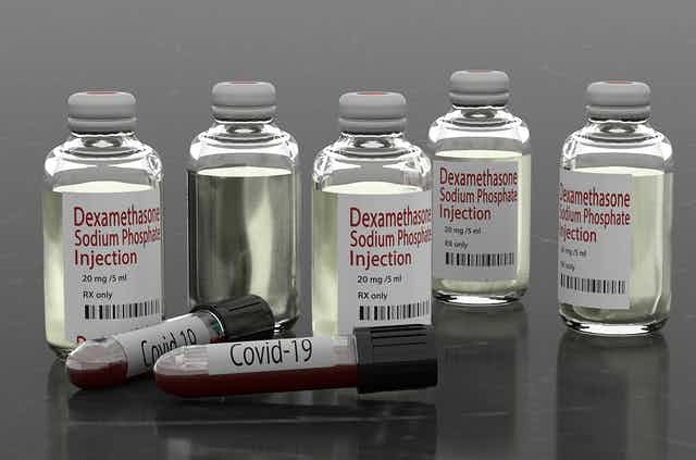 Bottles and vials of dexamethasone