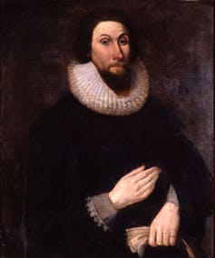 Portrait of John Winthrop in a ruff.