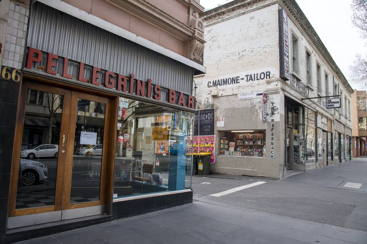 A closed shop in Melbourne