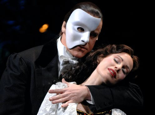 Performers in famous opera onstage.
