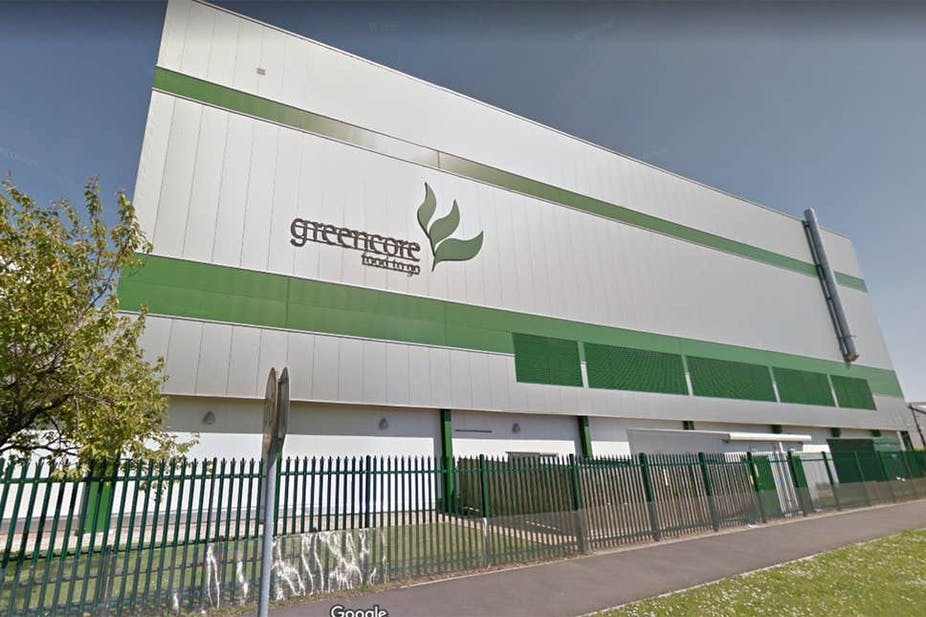 Outside of Greencore's Northampton factory.