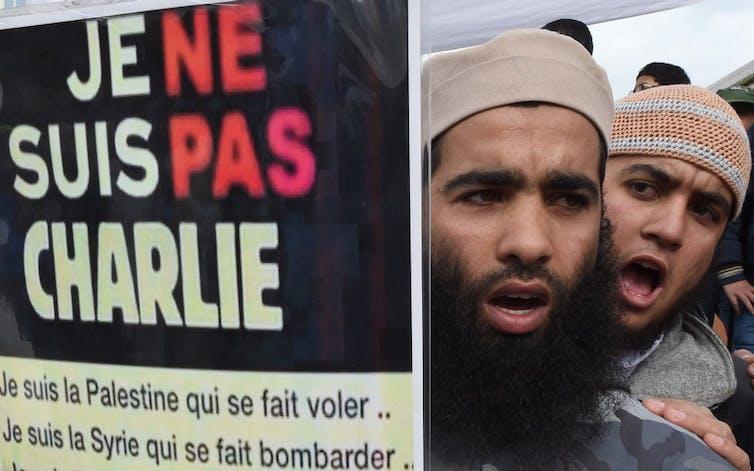 Manifestations contre les caricatures de Charlie Hebdo de groupes salafistes au Maroc