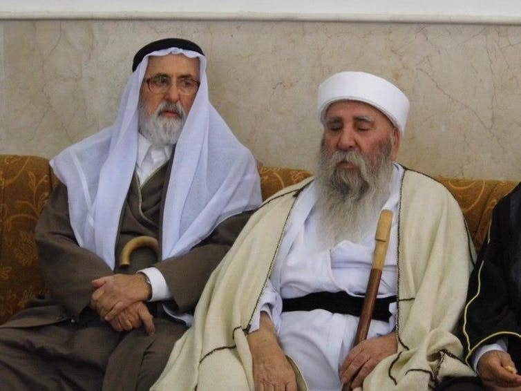 Deux chefs religieux yezidis