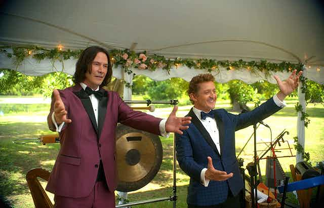 Bill and Ted look like they're in a wedding band