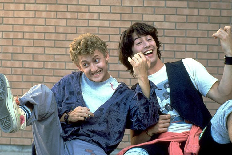Bill and Ted on their 1989 excellent adventure.