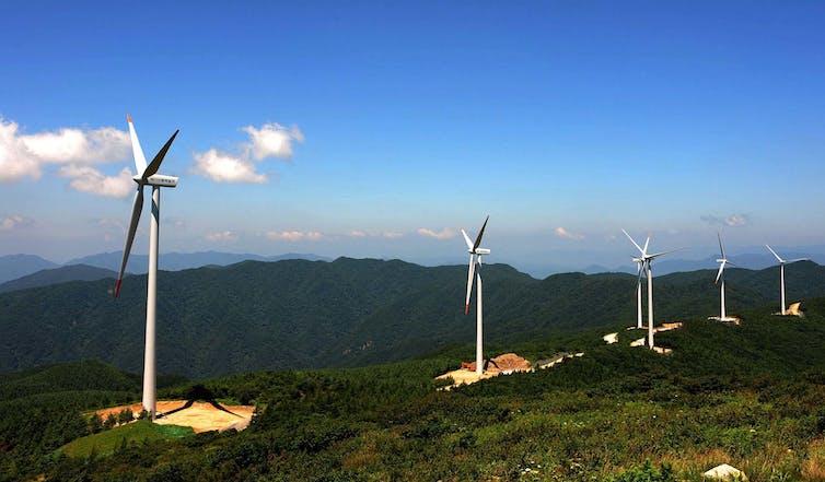 Wind turbines in South Korea