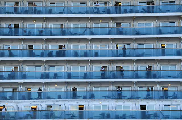 The balconies of the Ruby Princess.