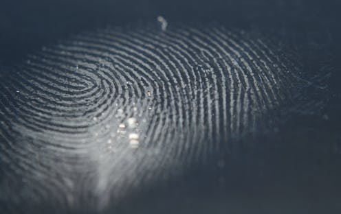 Close up of a finger print