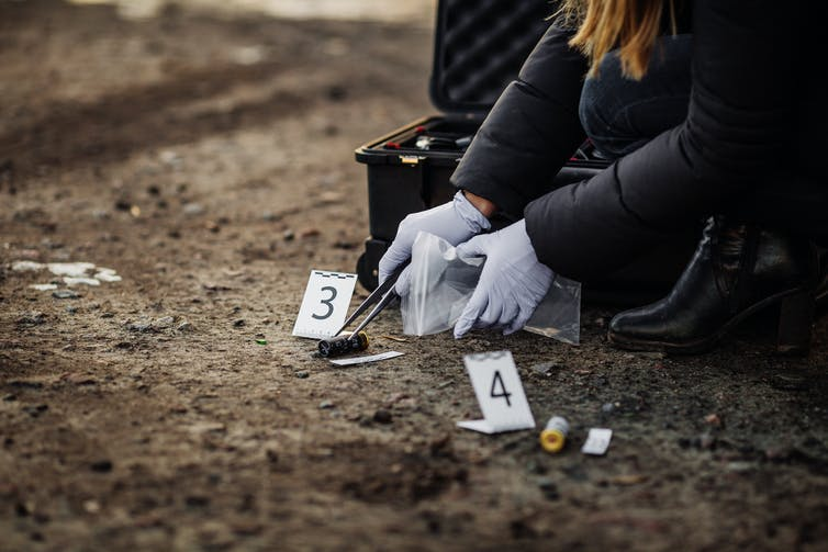 Crime scene forensic investigation