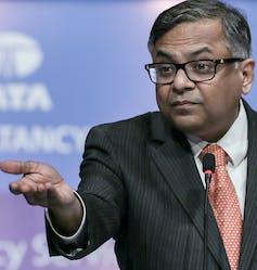 Tata chair Natarajan Chandrasekaran.