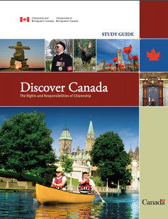The cover page of the Canadian citizenship guide.
