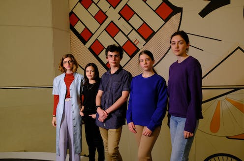 Five of the eight young plaintiffs bringing the climate case against the government