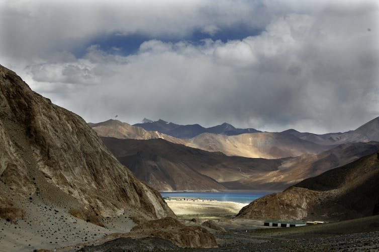 Pangong Lake near the India-China border