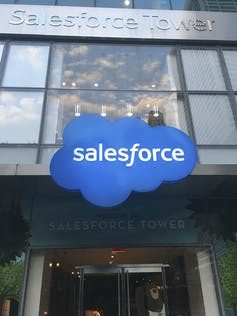 Salesforce building logo